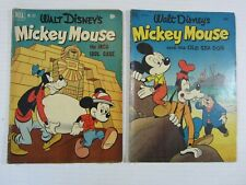 WALT DISNEY'S MICKEY MOUSE / FOUR COLOR 2 ISSUE LOT  # 371 & 411 (DELL COMIC)