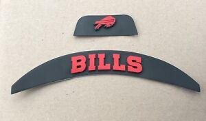 Buffalo Bills Front And Rear Helmet 3D Bumpers For Full Size Riddell Speed Flex