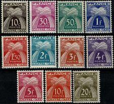 FRANCE 1943/46 TAXE  Série Type GERBES YT n° 67 à 77 neufs ★★ luxe / MNH