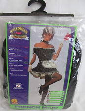 New Rubies French Maid Sexy Halloween Costume Adult Womens One Size Upto Size 12