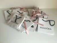 11 x Pandora Gift Bag with Pink Ribbon all USED Good Size Bundle SEE PICTURES