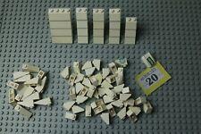 LEGO White Slopes 45º & 33º 1x2, 1x3, 2x2, 2x4 Q: POOR #Y20