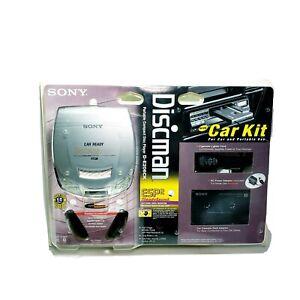 Sony Discman D-E206CK Portable CD Player with Car Kit ESP2 Sound Audio New