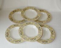 Syracuse China ROSE MARIE Old Ivory Rimmed Soup Bowls Made in USA ~ Set of 6