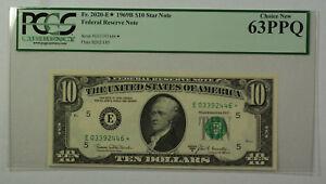 1969B $10 Bill *STAR* Federal Reserve Note FRN PCGS 63PPQ Fr. 2020-E (C)