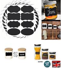 16 x Chalkboard Blackboard Craft Stickers Kitchen Jar Jam Label Chalk Board Deco