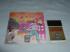 TURBOGRAFX 16 GAME CHINA WARRIOR W MANUAL TURBO GRAFX HU CARD NEC HUDSON 1989 >>