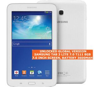 """SAMSUNG TAB 3 LITE 7.0 T111 8gb Dual-Core Camera Wi-F Gps 7.0"""" Android Tablet 3g"""