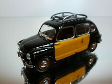 SOLIDO SEAT 800 1965 (FIAT) - TAXI - BLACK + YELLOW 1:43 - GOOD CONDITION