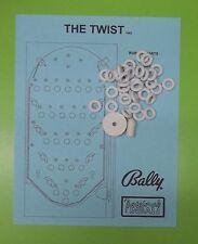 1962 Bally The Twist pinball / bingo rubber ring kit