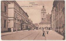 Ak Dessau Steinstraße Hotel Goldner Beutel Straßenbahn Personen 1928 ! (A2008