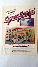 """Bud Browne- Going Surfin' - 1973 Original Vintage 11"""" x 15.5"""" Movie Poster"""