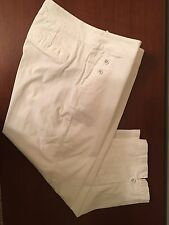 **NICE** Women's Coldwater Creek CROPPED PANTS: WHITE (10)