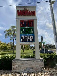"Daktronics Fuelight FL-3000 18"" Gas Price Changer - Red - 49"" x 22"""