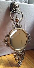 JOHN RICHARD Metal Frame Round Mirror Brass Lion Head Wall Hangings Door Knocker