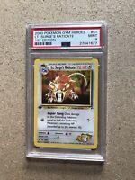 2000 Lt. Surge's Raticate 1st Edition Gym Heroes WOTC Pokémon #51 PSA 9 MINT