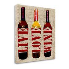 Tangletown Fine Art Live Love Wine' Graphic Art Print on Canvas