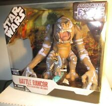 2007 Star Wars Force Unleashed MISB Battle Rancor w Felucian Rider Figure Hasbro
