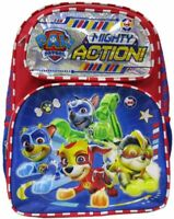 Paw Patrol Mighty Pups School Book bag Backpack Kids Marshall Chase Rubble Rocky