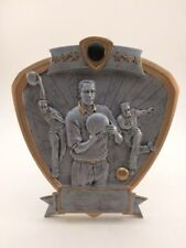 MALE SHIELD BOWLING RESIN TROPHY!  FREE ENGRAVING!  SHIPS IN 1 BUSINESS DAY!!
