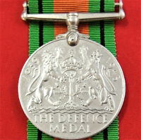 WW2 THE DEFENCE MEDAL RIBBON MEDAL MEDAL FOR DISPLAY OR MOUNTING ANZAC ORIGINAL
