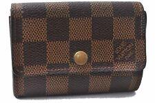Authentic Louis Vuitton Damier Porte Monnaie Plat Coin Case N61930 LV E0341