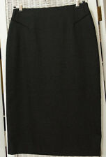 "HOBBS Vintage Pencil Skirt 29"" Waist Marilyn Anselm Charcoal Grey Office Career"