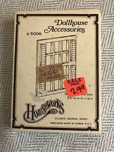 Vtg Houseworks LTD #5006 Dollhouse Miniature 1/12th Scale Hung Window Lot Of 7