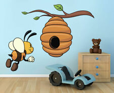 ced533 Full Color Wall decal Sticker Bee Honey bedroom kids nursery