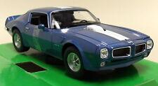 Nex 1/24-27 Scale 1972 Pontiac Firebird Trans Am Metallic Blue Diecast Model Car