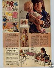 1972 PAPER AD Mattel Tearful Baby Tender Love Doll Dolls Baby Dear One