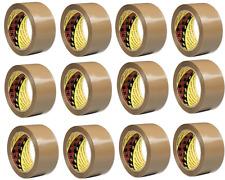 12 X 3M Original Embalaje Scotch Marrón Buff Paquete Cinta 48mm X 66m