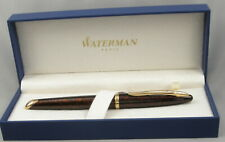 Waterman Carene Amber Shimmer & Gold Rollerball Pen in Box - Made In France
