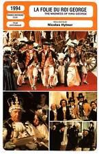 FICHE CINEMA : LA FOLIE DU ROI GEORGE - Mirren,Holm 1994 Madness of King George