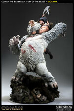 ★ STATUE CONAN THE BARBARIAN - FURY OF THE BEAST - DIORAMA SIDESHOW - EN STOCK ★