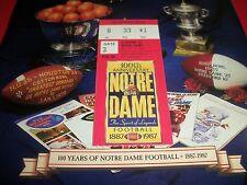 NOTRE DAME VS ALABAMA PROGRAM W/TICKET 11-14-1987
