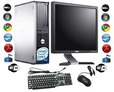 "Günstig Desktop PC Computer Set Dell Windows 7 mit 17"" TFT Monitor + Free p&p"