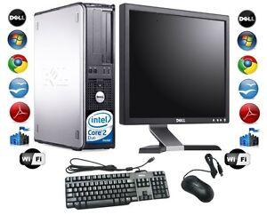 "Cheap Desktop PC Computer Set Dell Windows 7 With 17"" TFT Monitor   + FREE P&P"