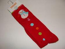 Gymboree Cozy Cutie Snowman Girls Size  3 4 Knee Socks NEW
