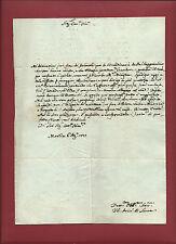 Manoscritto Lettera con Autografo Filippo Sardi Arcivescovo di Lucca 1803