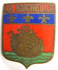 Insigne Blason ancien ville de LA ROCHELLE émail 22 mm authentique