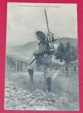 RARE CPA 1918 CHASSEUR ALPIN EN TENUE DE CAMPAGNE GUERRE 14-18 MILITARIA