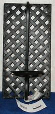 """BLACK LATTICE WALL SCONCE CANDLE WALL SCONCE 12""""x6"""" METAL SCONCE WALL DECOR"""