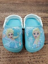 Crocs Frozen Elsa Lights Toddler Girls Clog 205495 SZ C 5 Blue Light Up Shoes