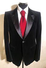 Balmain 100% Cotton Black Velvet 1 Button Tuxedo Jacket Blazer Size 52 (42 US)