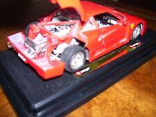 Bburago Ferrari F40 (1987) 1:24 Scale Diecast Model on Display Platform