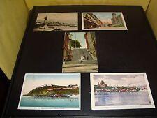 Vintage Quebec Canada Post Card Quantity 5 Lot VG 1936 Rue De La Fabrique