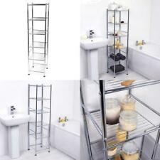 Chrome 6 Tier Bathroom Shelf Organizer Free Standing Storage Unit Beldray