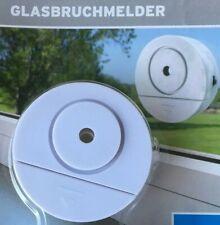 2 Glasbruchmelder Glas-Scheiben-Alarm Alarmanlage Batterie Fenstersicherung NEU