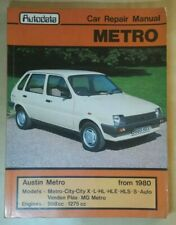 Austin Metro 1980 to 1986 - Autodata Car Repair Manual
